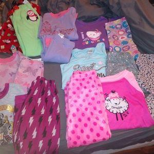 Girls PJs lot size 6-7